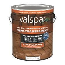 Valspar Exterior Stain Color Chart Tintable Neutral Base Semi Transparent Exterior Stain And Sealer Actual Net Contents 116 Fl Oz