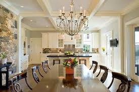 View in gallery Dining room coffered ceiling style