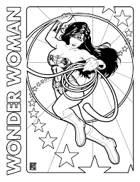 Wonder Woman Day Coloring Page By