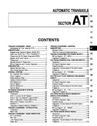 2001 infiniti i30 automatic transmission section at pdf 2001 infiniti i30 automatic transmission section at 392 pages