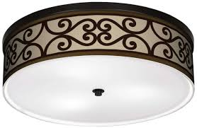 lamps plus cambria scroll ceiling light