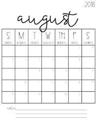 2018 2019 Blank Calendars Freebie By Tami Teaches Tami Lynn
