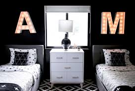 modern black white. Shared Kids Bedroom Modern Black White