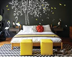 individual design large nursery tree wall decal with flamingos wall stickers for kids room waterproof vinyl large tree wall art graffiti wall stickers