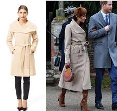 this winter coat from review is similar to what meghan wore with harry and the family at a church service on day in 2017