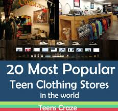 Teen clothing shopping sites
