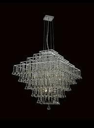 ne light diamond crystal chandelier shape square