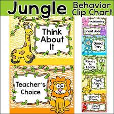 Chart Jungle Behavior Chart Jungle Theme Behavior Clip Chart