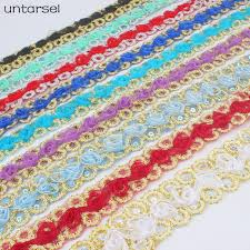 colorful <b>4cm width</b>*<b>3 yards</b> of rose flower lace fabric floral lace ribbon