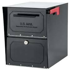 residential mailboxes and posts. Residential Mailbox Oasis Classic Locking Post Mount Parcel With High Security Reinforced Lock Black . Mailboxes And Posts P
