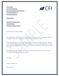 example letter of resignation resignation letter how to write a letter of resignation template