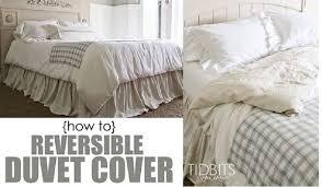 2 diy reversible duvet cover