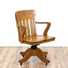 bankers chair cushion oak office chair base a wooden swivel desk chair desk chair oak restoration