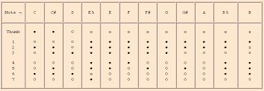 Philippe Bolton Recorder Maker Comparative Charts For