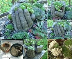 how to make concrete planters concrete hands planters concrete succulent planters diy