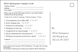 Questionnaire Questions For A Business Hvac Business Customer Satisfaction Questionnaire