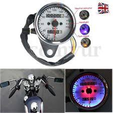 universal speedometer universal motorcycle dual odometer speedometer speed gauge led signal back light