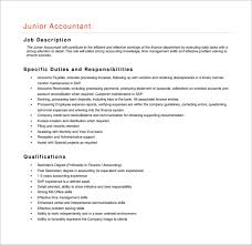 Accountant Job Description Free Word Pdf For On Resume Examples For