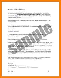 8 How To Write Declaration Letter Emt Resume