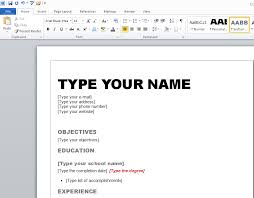 Resume Templates For Word 2007 Extraordinary Editing Resume Templates How To Type A Resume On Word