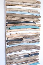 DIY Coastal Decor - Painted Driftwood Wall Art | Drift wood craft project |  Lake house