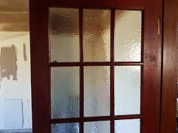 2 15 glass paned internal doors no broken glass including door furniture of handles etc