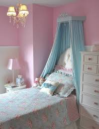 Excellent Decorating Ideas For Toddler And Little Girls Bedroom : Exciting  Pink Wall And Soft Blue