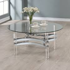 Coaster 720708 Coffee Table in Chrome/Clear Acrylic