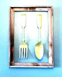 large spoon and fork wall decor spoon and fork wall hanging retro kitchen art big carved