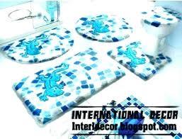 aqua blue bath rug lovely top bathroom rugs sets pieces modern mat set uk navy blue bathroom rugs