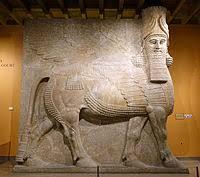 Древний мир Википедия Крылатый человекобык из Дур Шаррукина шеду Восточный институт Чикаго