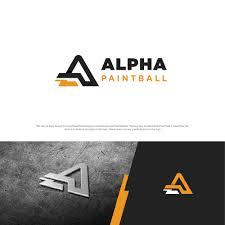 Paintball Field Designer App Bold Modern Logo Design For Alpha Paintball By Esolz