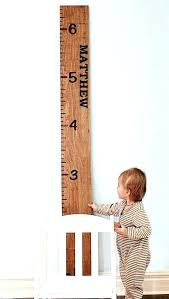 Personalized Wooden Growth Chart Wood Personalized Growth Chart Tiendateam Co
