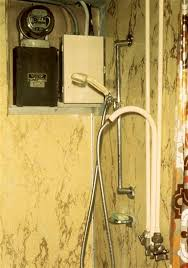 troubled houses electrical award winner ashi home inspector troubled houses the electric shower shower adjoining a fuse panel c