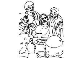 Kleurplaat Jezus En Het Laatste Avondmaal Kinderblad Voorjou