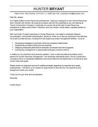 Hr Generalist Cover Letter Format Entry Level Human Resources