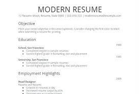 Easy Resume Format Inspiration Resume Outline Sample Easy Resume Samples Simple Job Resume Template