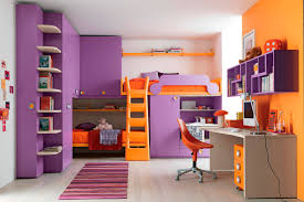 Bedroom Make Your Awesome Teen Decor With Great Loft Beds Together Colorful  Teens Room Photo For