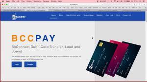 bitconnect bccpay live debit card registration starts december 15 102 fee bcc 313 16