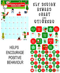 Details About Countdown To Christmas Elf Reward Chart And Stickers A5