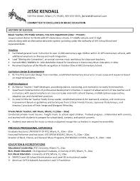 Music Resume Template Adorable Resume Template Music Music Teacher Resume Example Teaching
