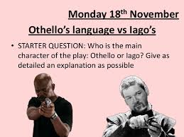 othello s language vs iago s