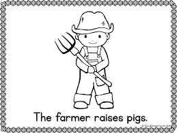 Small Picture Community Helpers Emergent Reader Coloring Pages Simple Fun for Kids