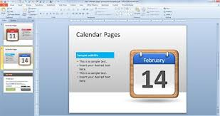 Calendar 2013 Template Free Calendar Pages Powerpoint Template Free Powerpoint