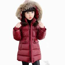 Girls Coat 2018 European Thick Warm Quilted Jackets For Boys ... & Girls Coat 2018 European Thick Warm Quilted Jackets For Boys Fashion Red  Long Coat Children Winter Adamdwight.com