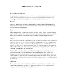 Word Memo Templates Free Investment Memorandum Template