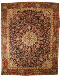 top view of traditional persian rug