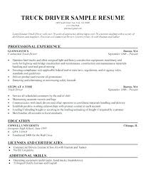 Truck Driver Resume Examples Yuriewalter Me