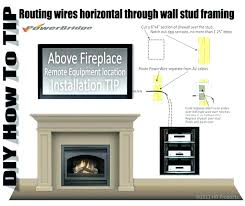 wall mounted tv wires hide cords on wall how to hide wires over brick fireplace best