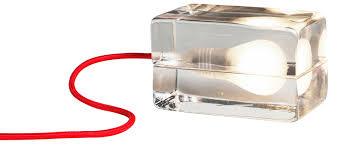 glass block lighting. glass light block table lamp lighting